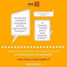 Publication du rapport relatif à l'éducation à la sexualité